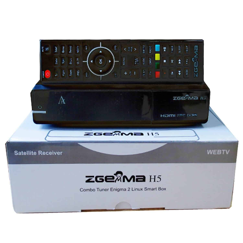 Zgemma H5 Combo Tuner DVB S2 + DVB T2 DVB C (Satellite, Cable and IPTV) E2  Smart TV Box